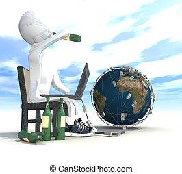programmeur, bière