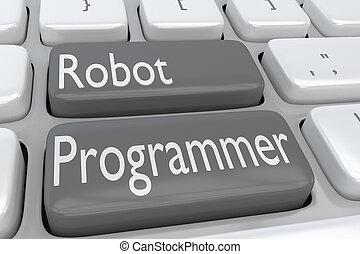 programmeur, concept, robot