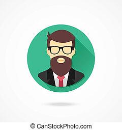 programmeur, vector, pictogram