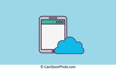 programming and code concept - smartphone cloud storage data...