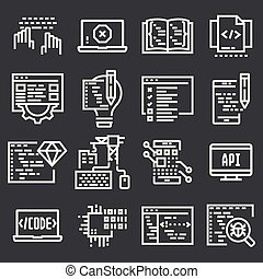 Programming and developer icons
