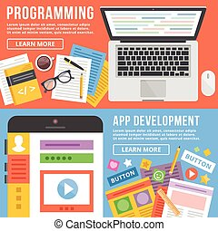 Programming, app development flat