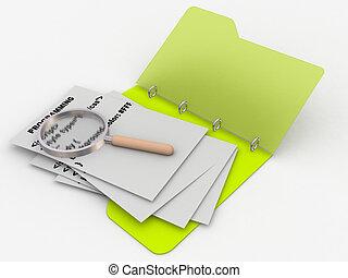 programming code in folder - programming code written on...