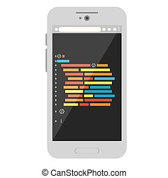 Programming code on a smartphone icon