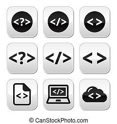 Programming code vector buttons set