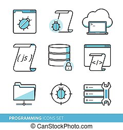 Programming icons set