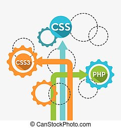programming language design, vector illustration eps10 ...