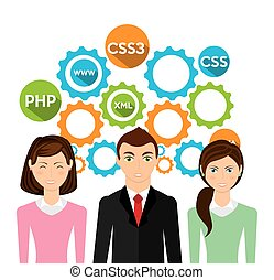 programming language design, vector illustration eps10 graphic