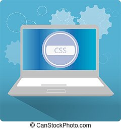 Programming language, vector illustration