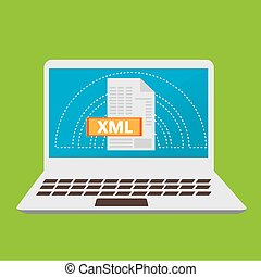 Programming language, vector illustration - XML, web design,...