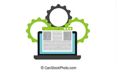 programming language with laptop animation ,hd video ...
