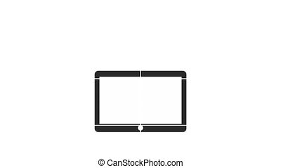 programming language with tablet and icons ,hd video...