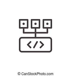 Programming line icon