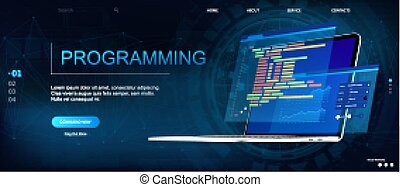 Programming or Software development web page template