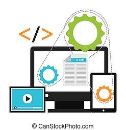 programming software design, vector illustration eps10 ...