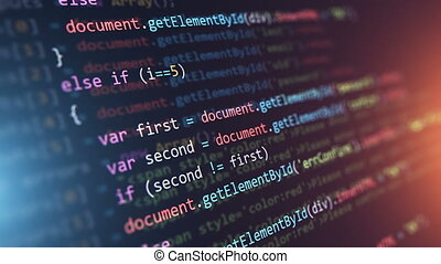 Programming source code abstract background