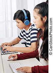 Programming teenage boy