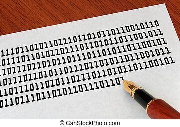 Programming - Writing binary code by a fountain pen