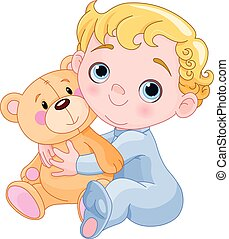 progresivo, oso del bebé, y, teddy