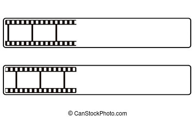 Progress bar film strip - Animation of a progress bar like...