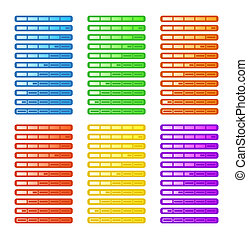 Progress Bar in Six Colors - Progress bar with eleven stages...