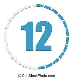 Progress, completion, step indicator. Segmented circle as ...