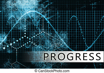 Progress in a Blue Data Background Illustration