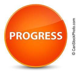 Progress elegant orange round button