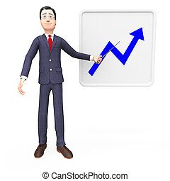 Progress Graph Indicates Finance Statistic And Financial