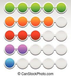 Eps 10 Vector Illustration of Progress Indicators