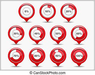 Progress Indicators - Progress indicators, vector eps10 ...
