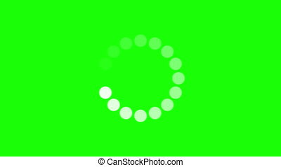 Progress loading bar UI indicator. Loading Circle. Download progress, preloader animation web design template, interface upload. Animation of UI element in 4K. Chroma key green screen