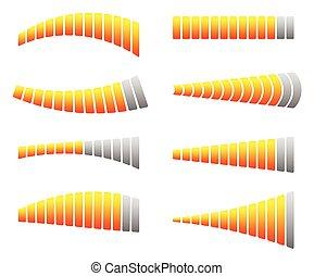 Progress, loading bars. Horizontal bars for measurement, ...