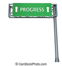 Progress sign