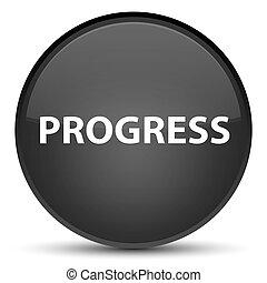 Progress special black round button