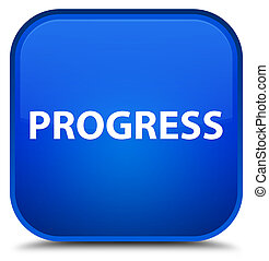 Progress special blue square button