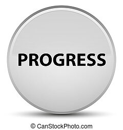 Progress special white round button