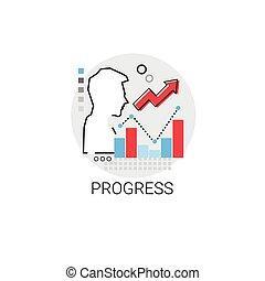 Progress Successful Financial Growth Icon