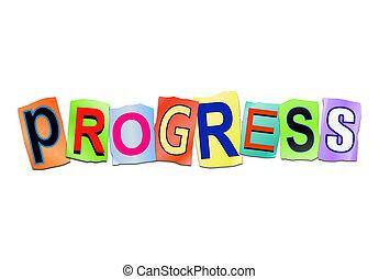 Progress word concept.