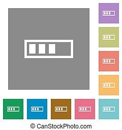 Progressbar square flat icons
