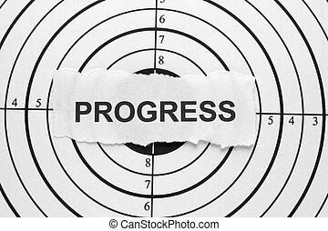 progresso, bersaglio