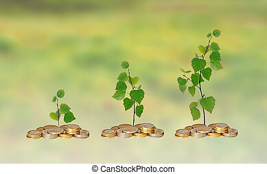 progresso, di, affari verdi