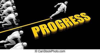 progresso, líder