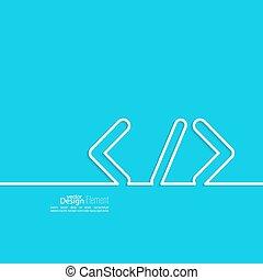 Progrmming code vector. Closing brackets and slash. Operator...
