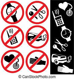 prohibición, señales