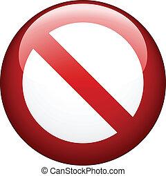 prohibición, vector, blanco