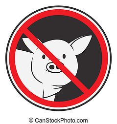 prohibido, cerdo