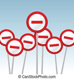 prohibido, señales
