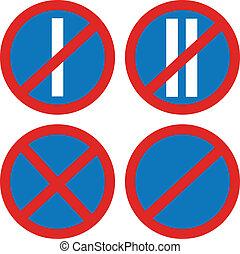 prohibit road signs