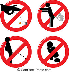 Prohibit signs for healthcare